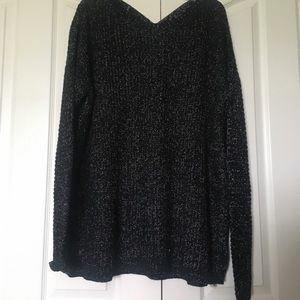 Forever 21 Black and White Knit Sweater